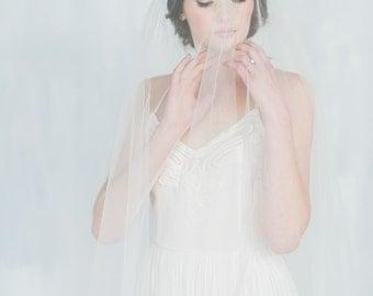 Silk Tulle Drop Veil, Bridal Veil, Circle Veil, Ivory Veil, Royal Veil, Modern Veil, Couture Veil, Blusher,  Fingertip Veil, Couture NATALIA