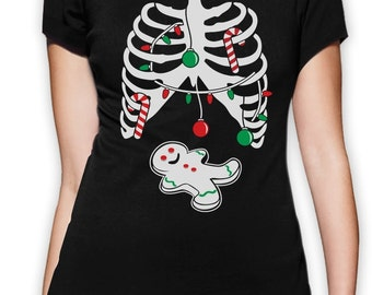 Gingerbread Skeleton - Women's T-Shirt