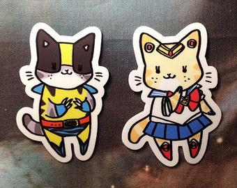 WOLVERINE KITTY — vinyl sticker