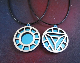 Your Choice Iron Man Arc Reactor Cosplay Pendant Necklace Handmade from Laser Cut Acrylic