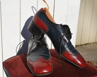 Two Tone Wingtips w/ Cuban Heels, Swing Shoes