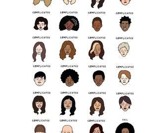 Orange Is the New Black Mood Chart Print - Hand-Illustrated