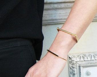 SALE! Electric Feel Bangle - Silver Cuff Bracelet, Gold Cuff Bracelet, minimalist jewelry, minimal silver bracelet, minimalistic gold cuff