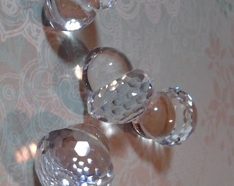 Rare Swarovski acorn- Vintage acorn-vintage Swarovski crystal acorn-rare-unusual-Beautiful, rare Swarovski cut crystal acorn-KR acorn