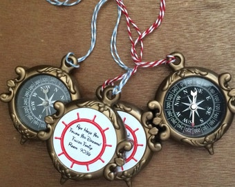 Customized Compass for Pirate Night Disney Cruise Fish Extender Gift FE Gift Compasses Custom Custom Necklace Compasses Party Favor