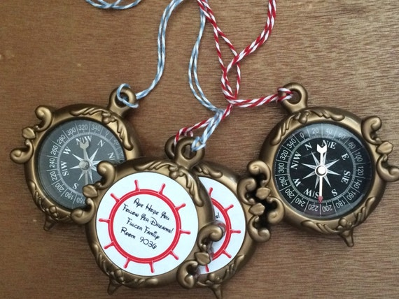 Personalized Disney Wedding Gifts: Customized Compass For Pirate Night Disney Cruise Fish