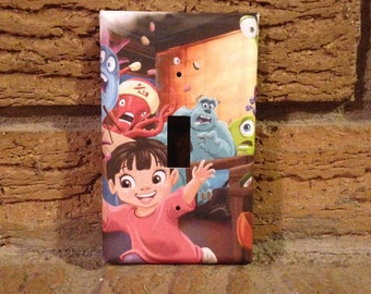 Boo Monster Inc Light Switch Cover, Monsters Inc Nursery Monster Inc Boo, Monsters Inc Decoration, Monster Inc Sulley, Monsters Decor, MON13