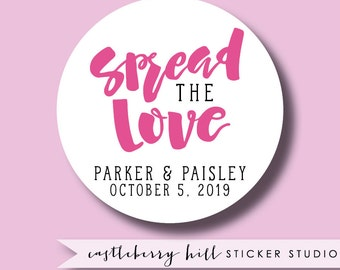 Spread the love stickers, jam labels, jelly labels, apple butter labels, preserves labels, mason jar labels, honey labels, custom stickers