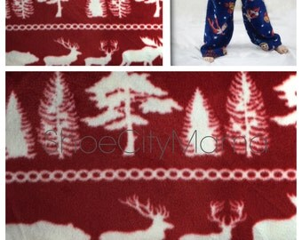 Winter Woods Christmas Family Pajamas Pant Fleece Matching Sibling Pajama Set Plus Size Adult Mommy and Me Teen Child Toddler Baby Infant