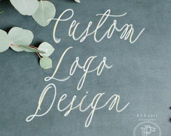 Custom logo design - calligraphy text logo - business logo - business card - business branding - logos - freshmint paperie