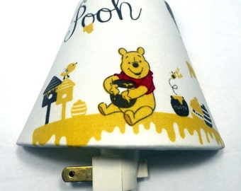 Winnie the Pooh Bear Plug In Night Light / Honey / Nursery Decor / Baby Shower Gift / Home Decor / Lighting / Kid's Room / Bedroom / Bees