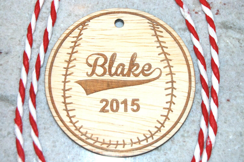 Custom name ornaments - Baseball Ornament Personalized Ornament Baseball Gift Tags Boys Baseball League Christmas Ornaments Boys Stocking Stuffer Custom Name