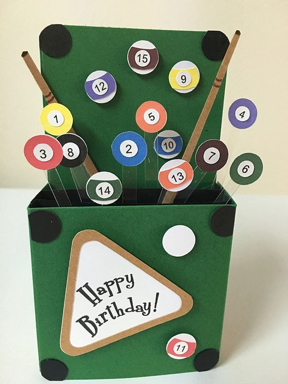 Happy Birthday Mike Pool Table Cake
