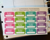 Reward Stickers, Fitness Reward Stickers, Set of 16 Planner Stickers for Erin Condren Life Planner, Happy Planner, and more!