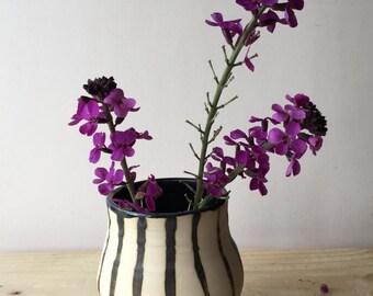 Stoneware cylinder vase