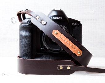 DSLR camera strap leather camera strap with personalization Canon camera strap Nikon camera strap DSLR straps