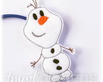 Snowman Doll Toy Slider Digital Design File - 4x4