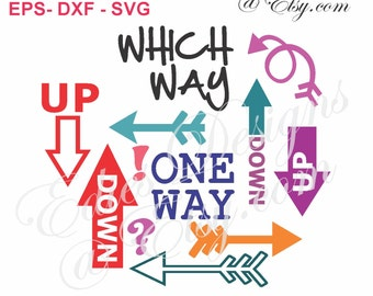 SVG Arrows and Elements Digital Download EPS DXF