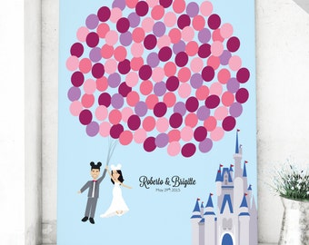 Cinderella Wedding Guest Book Canvas for Fairy Tale Wedding Guestbook