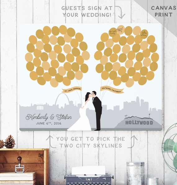 Ideas For Wedding Guest Sign In: Canvas Guest Book Alternative Unique Guest Book Idea With