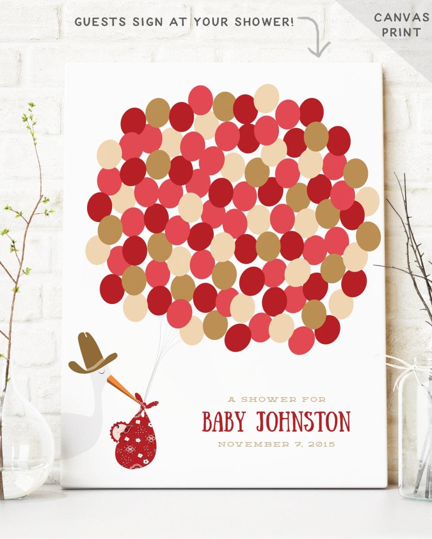 Cowboy Baby Shower Guest Book Alternative Baby Shower Decor