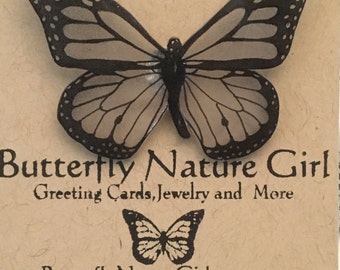 Black and White Butterfly Pin