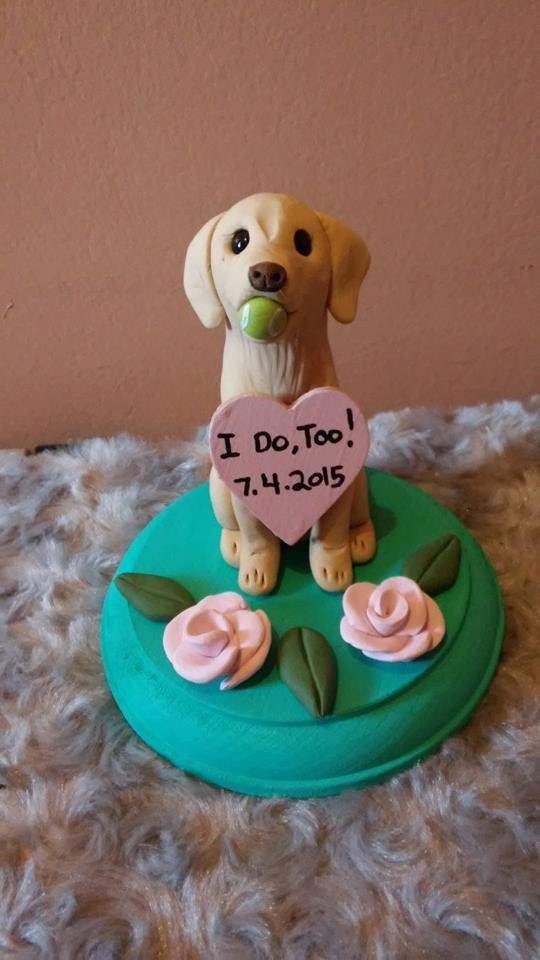 dog cake toppers for wedding cakes wedding cake topper with tennis golden retriever 3644