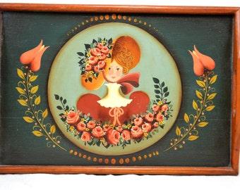 Folk Art Tray