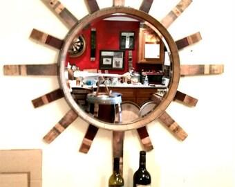 Sun Mirror Wine Barrel Head