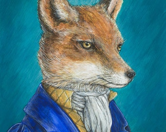 REYNARD the FOX regency portrait fine art print limited edition giclee