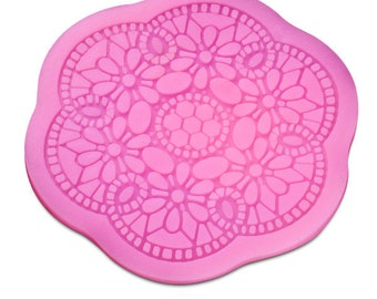 Round Circle Silicone Baking Cake Pink