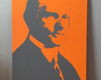 "Calvin Coolidge Custom President Portrait Pop Art Painting 16""x20"" Canvas"