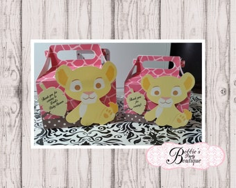 Lion King Baby Shower Favors, Lion King Boxes , Baby Shower Favors, Lion King Gable Box Favors, Lion King, Nala Party Favor