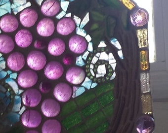 Suncatcher - Grapes in the Vineyard Glass Plate/Tray