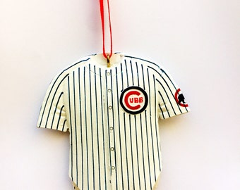FREE SHIPPING! Chicago Cubs Personalized Christmas Ornament / Chicago Cubs Jersey / Baseball Jersey Ornament / Baseball Ornament
