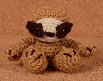 Mini Sydney the Sloth Crochet Toy Doll