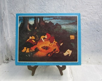 1979 Lord of the Rings SEALED Jigsaw Puzzle.  Frodo, Sam, Merry and Pippin Camping. J.R.R. Tolkien.