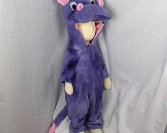 Purple Hippo Fleece Baby Costume