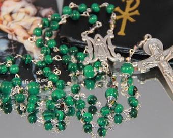 Catholic Malachite Rosary
