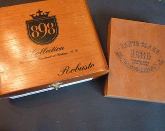 Cigar Boxes...Santa Clara and 898