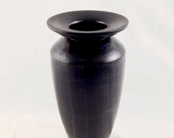Turned Maple Vase, Black