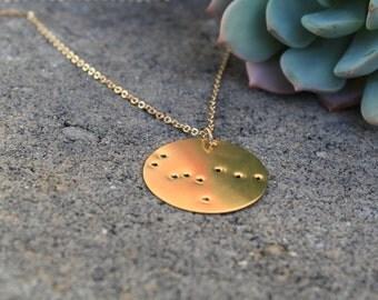 Gemini Constellation Pendant Necklace