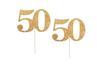 50th Birthday Cupcake Toppers, 50 and Fabulous Party, 50th Birthday Party Ideas, 50 Cupcake Toppers, 50th Cupcake Topper 50th Birthday