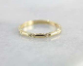 18K Yellow Gold Band, The Amelia from The Elizabeth Henry Collection, Wedding or Stacking Band