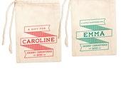 Custom Christmas Gift Bags | Custom Christmas Gift Wrap | Custom Christmas Favor Bags | Hanukkah Gift Bags | Personalized Gift Bags