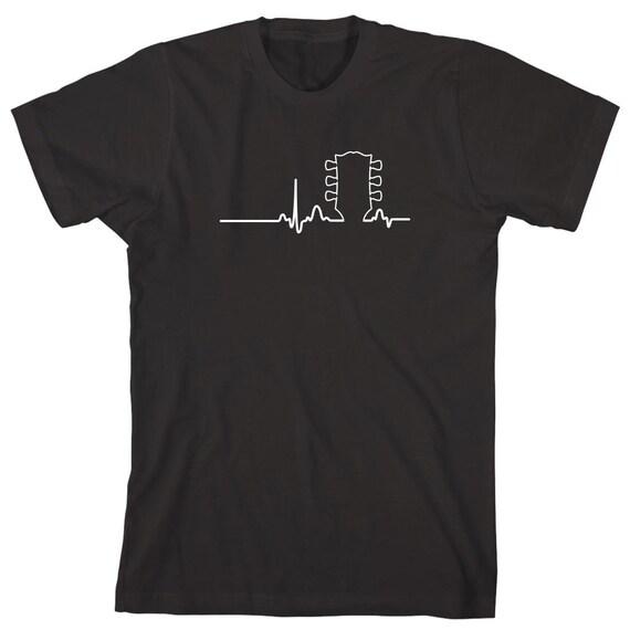 Acoustic Guitar Heart Shirt - gift idea for Guitar Lover, Music, Punk Rock, Indie, Hardcore, Rockabilly, Ska - ID: 1644