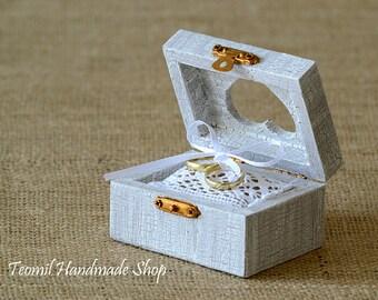 Wedding Ring Box, Ring Bearer Box, Engagement Ring Box, Wedding Ring Pillow, Wedding Ring Holder, Proposal Ring Box