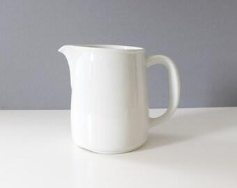 Arabia Finland Ceramic Pitcher White Kaj Franck Mid Century Modern