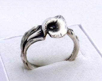Calla Lily Ring, Sterling Silver Spoon Ring, Reed & Barton Harlequin Floral Spoon Ring, 925 Sterling Silver, Silver Ring, Cala Lily Ring