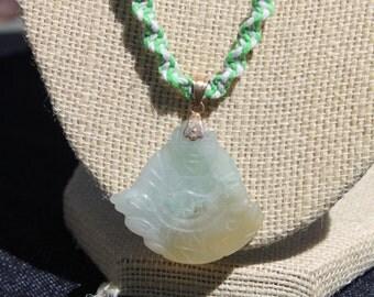 Green Buddha Hemp necklace